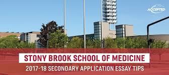 Stony Brook Som Secondary Application Essay Tips Deadlines