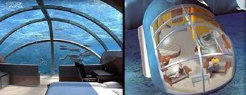 underwater hotel room at night. Can You Imagine Spending A Night 40 Feet Below Sea Level? This Gap Between Imagination And Reality Is Bridged By Poseidon Undersea Resort Where Underwater Hotel Room At