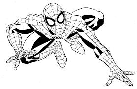 Tổng hợp các bức tranh tô màu người nhện đẹp nhất