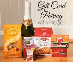 creative gift card pairing with kroger