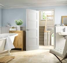 shaker glazed white door