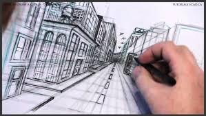 perspective drawings of buildings. Learn How To Draw City Buildings In Perspective 032 Drawings Of