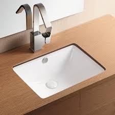 undermount bathroom sink. Bathroom Sink, Caracalla CA4070, Rectangular White Ceramic Undermount Sink R