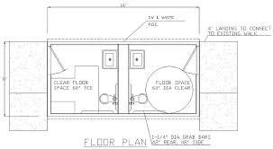 california ada bathroom requirements. Alan 8\u0027x16\u0027 Restroom Slab Floor Custom California Ada Bathroom Requirements N