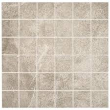 portland stone gray 12 in x 12 in x 6 35 mm ceramic mosaic tile