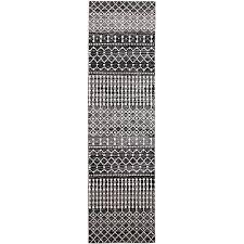 marbella oriental runner rug black