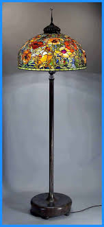 Antique Tiffany Floor Lamps At Home Dale Hanging Lowes Lamp Black