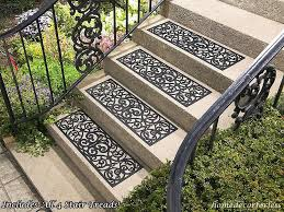 details about set of 4 rubber stair step treads mats scrolled erfly outdoor porch traction