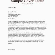 New Sample Cover Letter For Daycare Job | Agarioskins.co