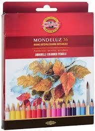 Набор <b>карандашей</b> акварельных <b>MONDELUZ</b>, 36 цв — купить в ...