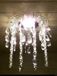 the happy homebos tutorial diy faux crystal chandelier chandelier crystals for crafts