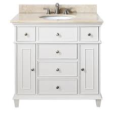 Bunnings Bathroom Vanity Shop Avanity Windsor White 36 In Transitional Bathroom Vanity At