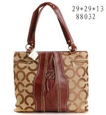 Coach Legacy Logo Signature Medium Brown Crossbody Bags 51404
