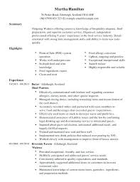 Server Job Description For Resume Interesting Waitress Job Description Cv Resume New Hostess Sample For Duties