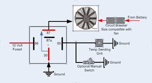 dual fan relay wiring diagram dual auto wiring diagram ideas 12 volt radiator fan relay wiring diagram 12 auto wiring diagram on dual fan relay wiring