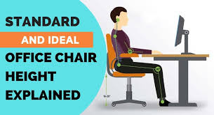 Table Chair Height Chart Standard And Ideal Office Chair Height Explained Ergonomic