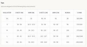 Hollister Bathing Suit Size Chart Mens Pants Conversion Chart Images Online