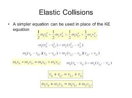 perfectly elastic collision equation jennarocca 39 more about elastic collisions momentum and conservation impulse