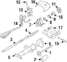 parts com® gmc c1500 suburban steering column assembly oem parts 1999 gmc c1500 suburban slt v8 6 5 liter diesel steering column assembly