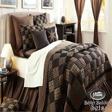 14 best Oversized King Comforter Sets images on Pinterest | Bed ... & Country Black Patchwork Twin Queen Cal King Size Quilt Oversized Bedding Set Adamdwight.com