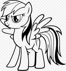 Rainbow Dash My Little Pony Applejack Libro Da Colorare O