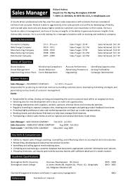 Sales Manager Cv Sample For Students Business Plan Template
