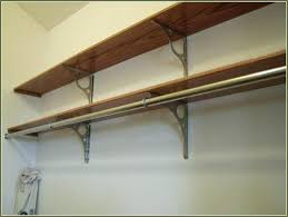 clothes rod ideas for install closet bracket home design how to hang from shelf hanger rods image titled install a closet rod step 6 how