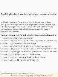 Assistant Principal Cover Letter Sample Principal Resume Cor Letter