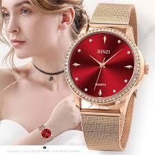 <b>BINZI</b> Luxury Women Watches Top Brand Ladies Rose Gold Wrist ...