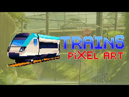 Print out kids train coloring page printables. Trains Pixel Art Color By Number Sandbox Coloring Apps On Google Play