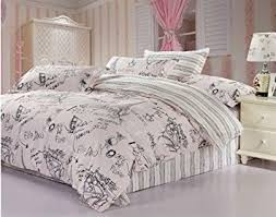Amazon.com: Queen Size Pink 4pcs Comforter Bedding Set the Eiffel ... & Queen Size Pink 4pcs Comforter Bedding Set the Eiffel Tower Duvet Covers  (Queen) Adamdwight.com