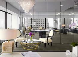 home office ideas crystal chandelier with oval stunning hi tech design workspace back chairs round glass