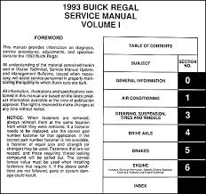 1993 buick regal repair shop manual original 2 volume set this manual covers all 1993 buick regal models including gran sport limited custom