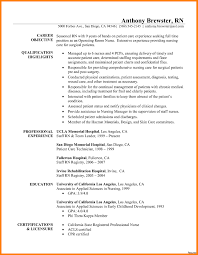 Registered Nurse Resume Sample Good Icu New Grad Samples Good