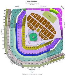 Wrigley Field Tickets And Wrigley Field Seating Chart Buy