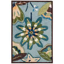 nourison fantasy aqua indoor handcrafted area rug common 2 x 3 actual