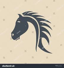 tribal horse head silhouette. Modren Silhouette Tribal Horse Head Design Perfect For Logo Or Tattoo Vector Intended Horse Head Silhouette