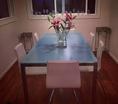 Frosted glass dinning table White Frosted Offerup Frosted Glass Dining Table furniture In San Francisco Ca Offerup