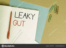 Writing Note Showing Leaky Gut Business Photo Showcasing A