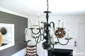 brass chandelier painted black chandelier makeover also an easy chandelier makeover with spray paint brass chandelier