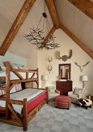 the antler chandelier as a highlight in
