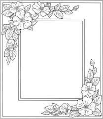 Disegno Di Cornice Con Fiori Da Colorare Disegni Da Colorare E