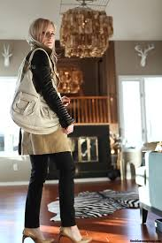 outfit of the yesterday black white tan the linea pelle dylan shoulder bag