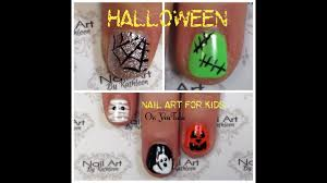 Halloween Nail Art For Kids, 5 Easy DIY Nail Designs! - YouTube