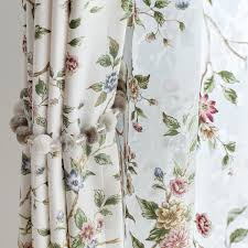 get quotations was open upscale garden flowers cotton fabric curtains finished custom living room bedroom den
