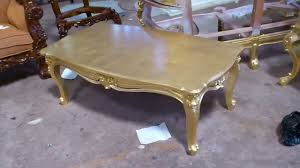 coffee table round gold end accent