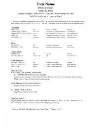 how to make a beginners acting resume w no experience how to write acting resume beginner resume models modeling resume sample how to write a resume for a movie