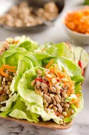 Light And Healthy Dinner Turkey Thai Peanut Lettuce Wraps