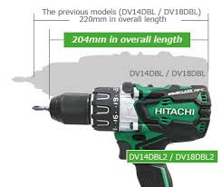 hitachi impact driver battery. compact at 204mm hitachi impact driver battery
