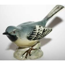 Grey Wagtail 1041 Bird Figurine By Beswick Pottery Collectors Limited  Edition